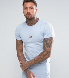 Синяя обтягивающая футболка Puma эксклюзивно для ASOS - Синий