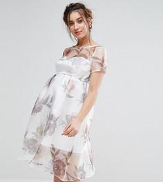Платье миди с цветочным принтом Chi Chi London Maternity - Мульти