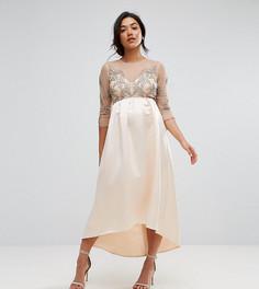 Платье миди асимметричной длины Maya Maternity - Розовый