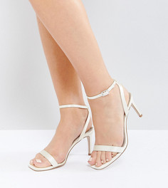 Босоножки на каблуке для широкой стопы ASOS HIDEAWAY - Белый