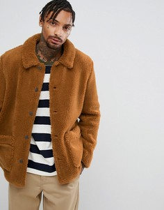 Куртка из искусственной цигейки ASOS - Оранжевый