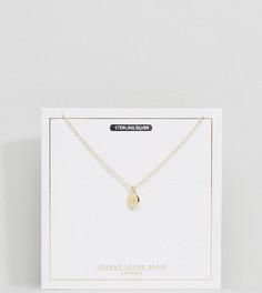 Позолоченное ожерелье со знаком зодиака Близнецы Johnny Loves Rosie - Золотой