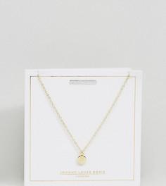 Позолоченное ожерелье с подвеской-диском со знаком зодиака Лев Johnny Loves Rosie - Золотой