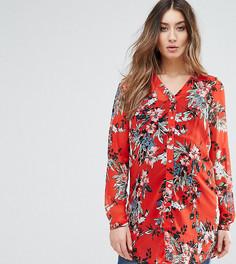 Рубашка с ярким цветочным принтом Mamalicious - Красный Mama.Licious