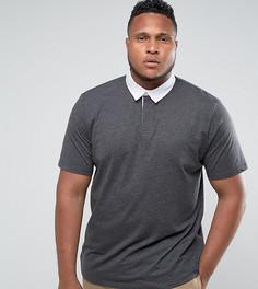 Темно-серая футболка-поло ASOS PLUS - Серый