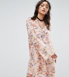 Платье на пуговицах с цветочным принтом Glamorous Tall - Мульти