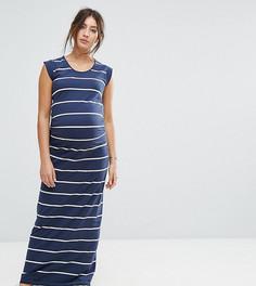 Платье макси в полоску Mamalicious - Темно-синий Mama.Licious