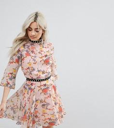Платье мини с цветочным принтом Glamorous Petite - Мульти