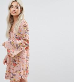 Платье на пуговицах с цветочным принтом Glamorous Petite - Мульти