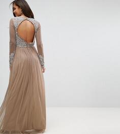 Платье макси с длинными рукавами Maya Tall - Белый