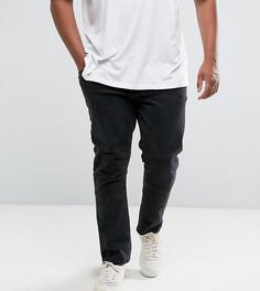 Выбеленные черные джинсы скинни ASOS PLUS - Черный