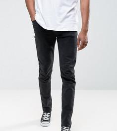 Черные выбеленные джинсы скинни ASOS TALL - Черный