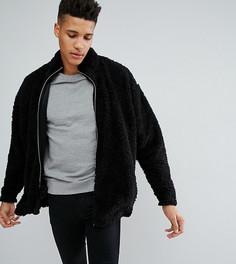 Оверсайз-куртка с отделкой борг ASOS TALL - Черный
