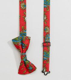 Красный галстук-бабочка с принтом пейсли Reclaimed Vintage Inspired - Красный