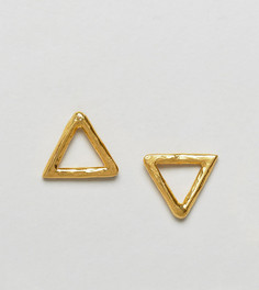 Серьги-гвоздики с треугольной отделкой Ottoman Hands - Золотой