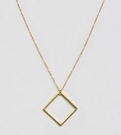 Ожерелье с квадратной подвеской Ottoman Hands - Золотой