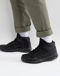 Черные высокие сапоги Nike SB Dunk 536182-001 - Черный