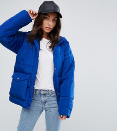 Дутая куртка с карманами ASOS TALL - Синий