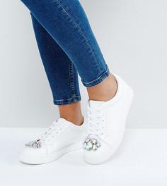 Кроссовки для широкой стопы с отделкой ASOS DISCO - Белый