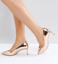 Туфли на каблуке для широкой стопы с острым носком ASOS SOULFUL - Бежевый