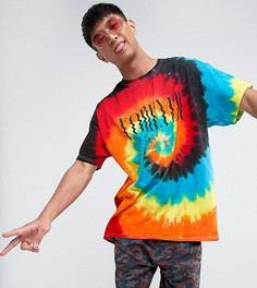 Свободная футболка с принтом тай-дай Reclaimed Vintage Inspired - Синий
