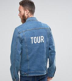 Свободная джинсовая куртка с принтом Tour на спине Reclaimed Vintage Inspired - Синий