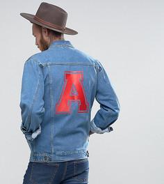 Свободная джинсовая куртка с принтом на спине Reclaimed Vintage Inspired - Синий