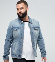 Джинсовая куртка скинни ASOS PLUS - Синий