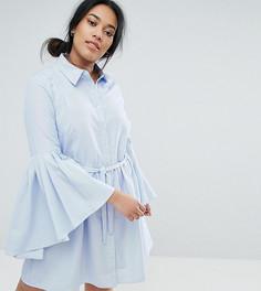 Платье-рубашка с рукавами-клеш Unique 21 Hero - Синий