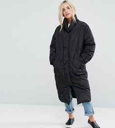 Утепленное пальто с варежками ASOS PETITE - Черный