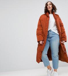 Дутая куртка с варежками ASOS CURVE - Красный