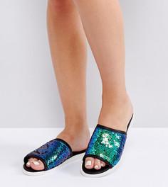 Сандалии для широкой стопы с отделкой пайетками New Look - Мульти