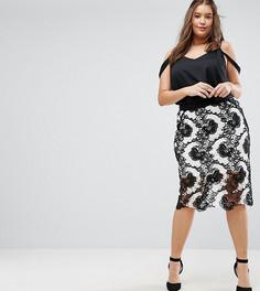 Кружевная юбка-карандаш Coast Plus Keira - Мульти