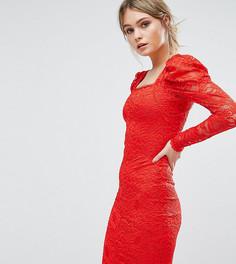 Кружевное платье миди TFNC - Красный