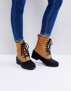 Бежевые водонепроницаемые кожаные ботинки Sorel Emelie 1964 - Бежевый