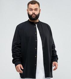 Черная удлиненная джинсовая рубашка классического кроя ASOS PLUS - Черный