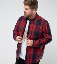 Стеганая рубашка навыпуск ASOS PLUS - Темно-синий