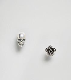 Набор серебряных серег-гвоздиков Regal Rose - Серебряный