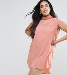 Платье с короткими рукавами AX Paris Plus - Розовый