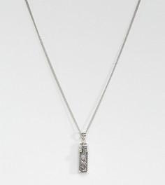 Ожерелье с подвеской в форме бутылочки эксклюзивно для Regal Rose Dahlia - Серебряный