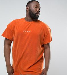 Оранжевая махровая футболка Puma PLUS 57533303 эксклюзивно для ASOS - Оранжевый