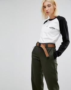 Oversize-футболка с рукавами реглан и логотипом на груди Dickies - Черный