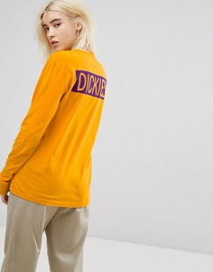 Оверсайз-лонгслив с принтом на спине Dickies - Желтый