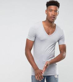 Серая обтягивающая футболка ASOS TALL - Серый
