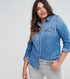 Джинсовая рубашка в стиле вестерн Levis Plus - Синий