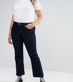 Корректирующие джинсы с легким клешем Levis Plus - Синий