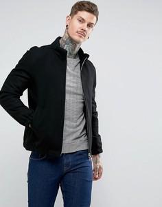 Куртка из ткани с добавлением шерсти Pretty Green - Черный