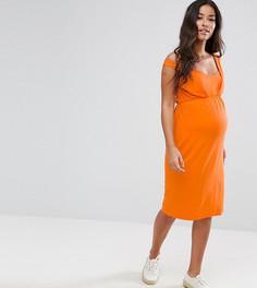 Платье с перекрученными бретелями ASOS Maternity - Оранжевый