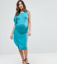Платье миди с драпировкой ASOS Maternity - Зеленый