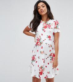 Платье-трапеция с цветочным принтом ASOS Maternity TALL - Белый